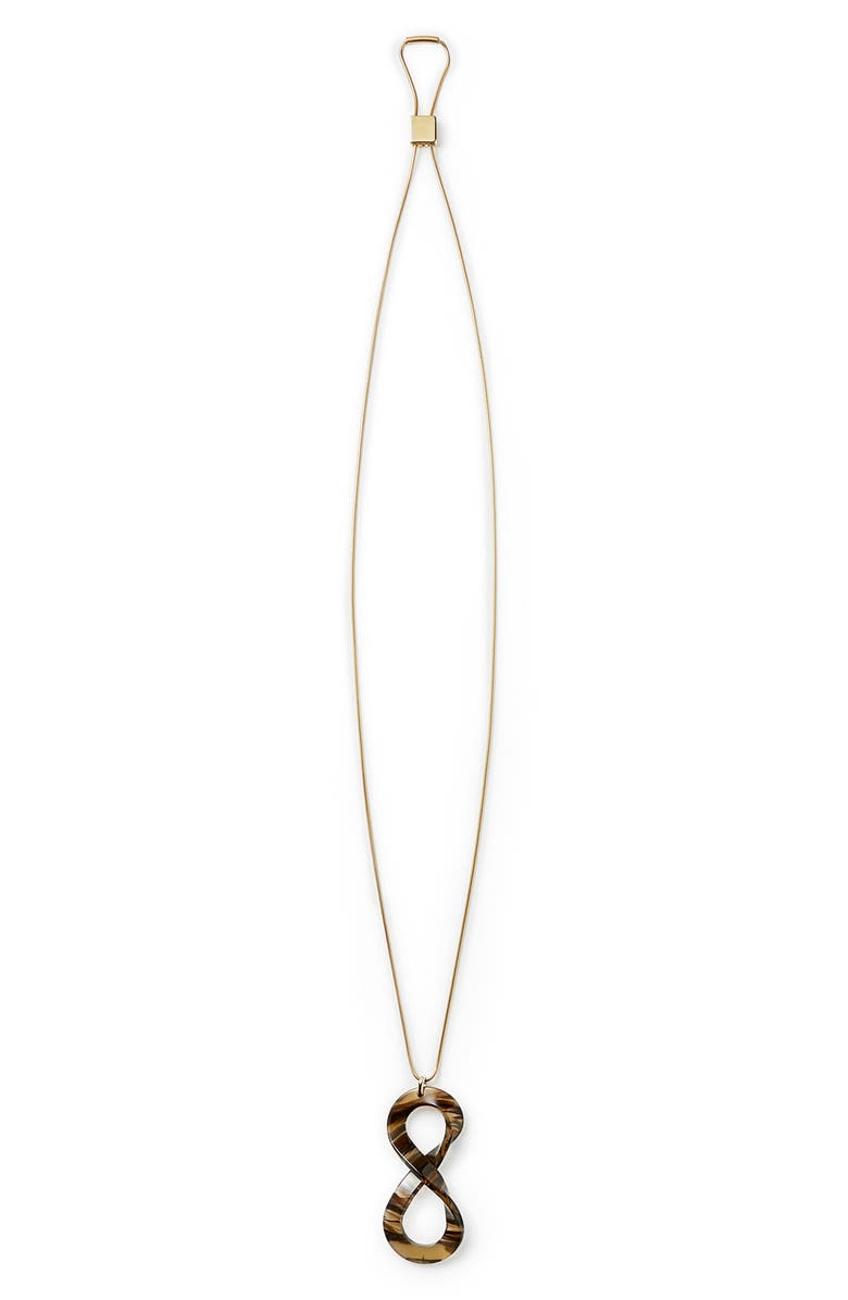LAFAYETTE 148 NEW YORK 8-Knot Adjustable Necklace, Main, color, LATTE MULTI