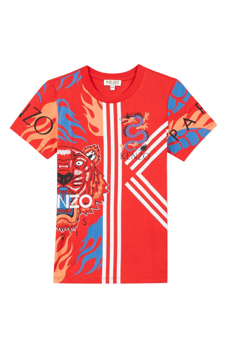 KENZO Multi Iconic Graphic T-Shirt, Main, color, 610