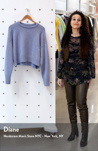 Oversize Crop Wool & Cashmere Sweater, sales video thumbnail