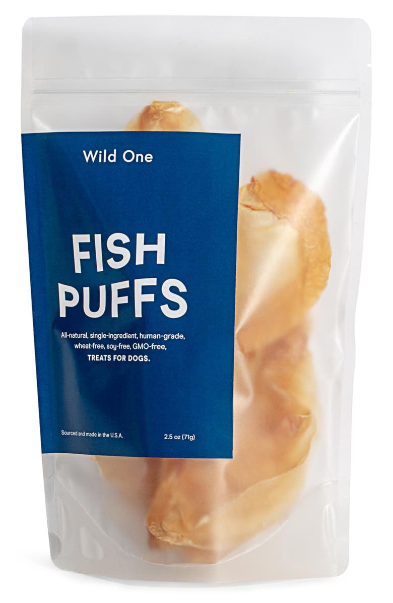 WILD ONE Fish Puffs Dog Snack, Main, color, 250
