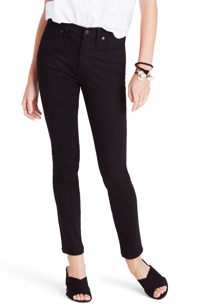 MADEWELL 9-Inch High Waist Skinny Jeans, Main, color, 001