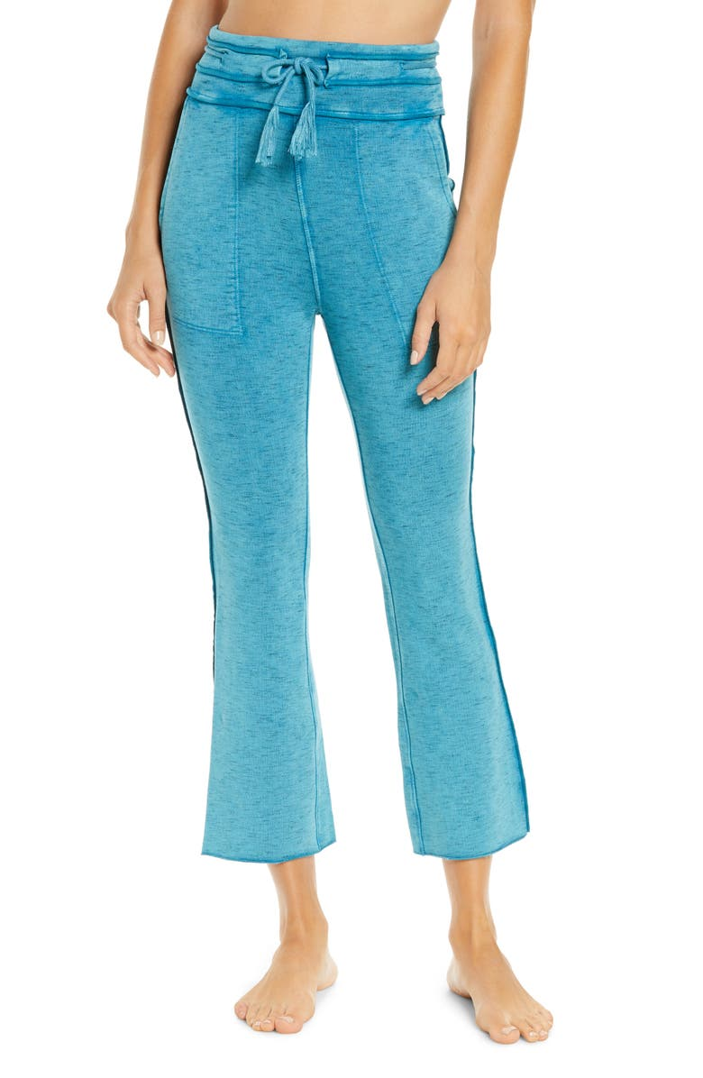 FREE PEOPLE MOVEMENT Free People FP Movement Solid Wide Leg Pants, Main, color, RAINFOREST