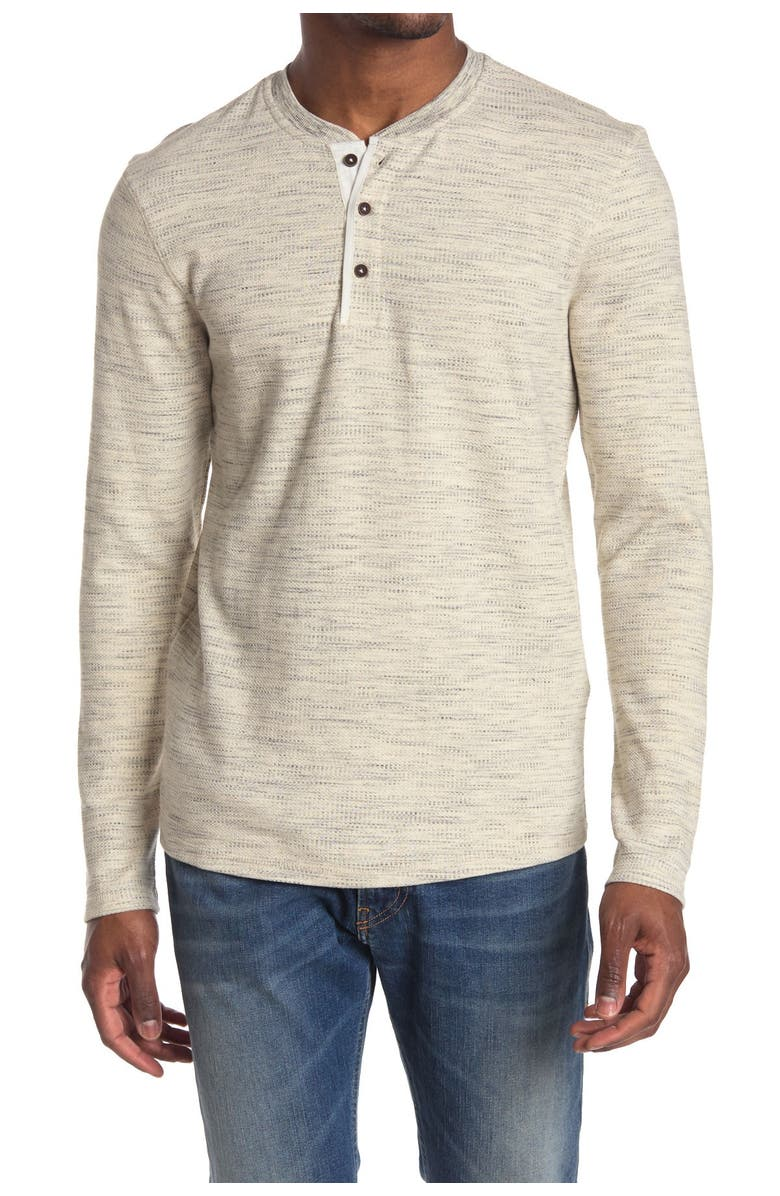 PX Thermal Long Sleeve Henley, Main, color, OATMEAL HEATHER