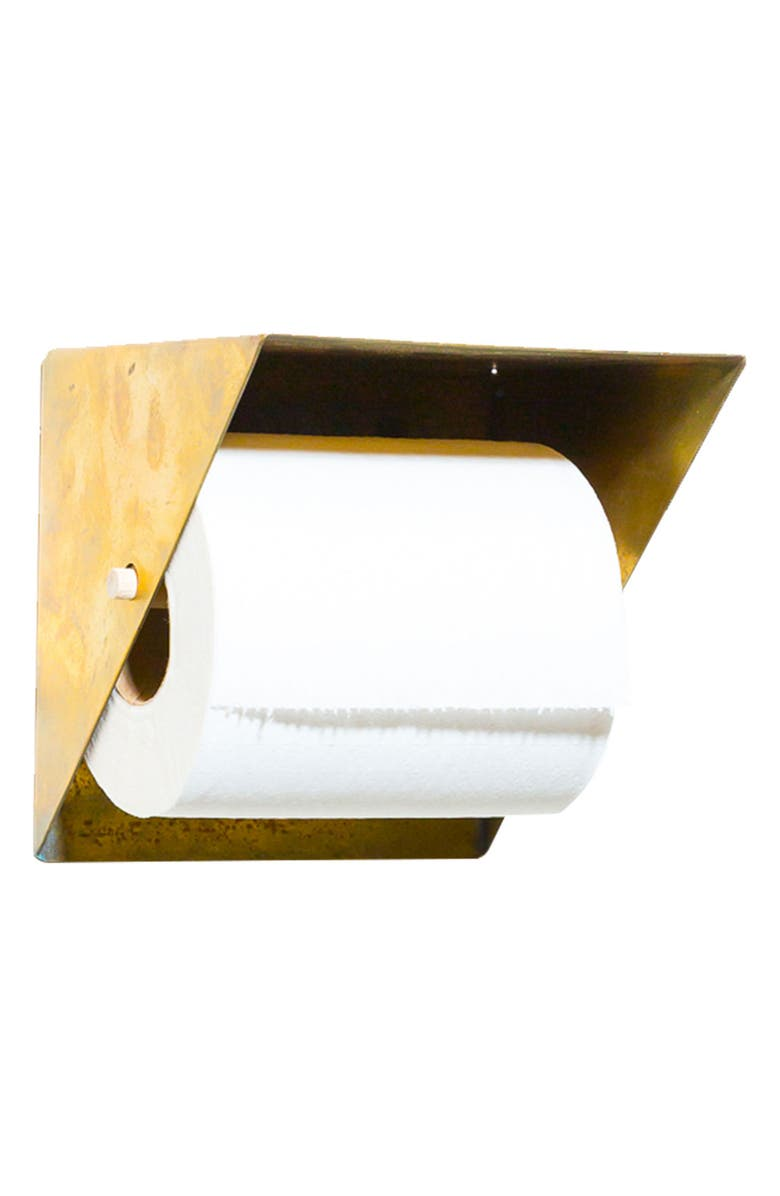 NEWMADE LA Toilet Paper Holder, Main, color, BRASS