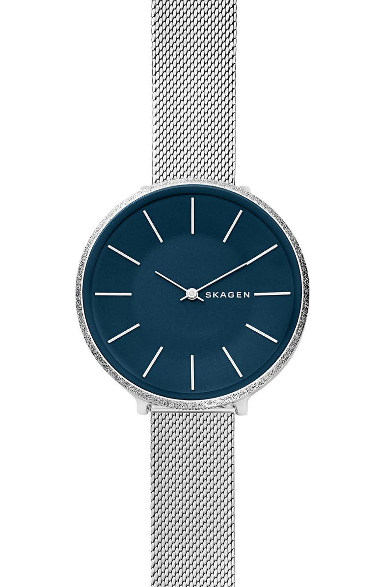 SKAGEN Karolina Mesh Strap Watch, 38mm, Main, color, 040