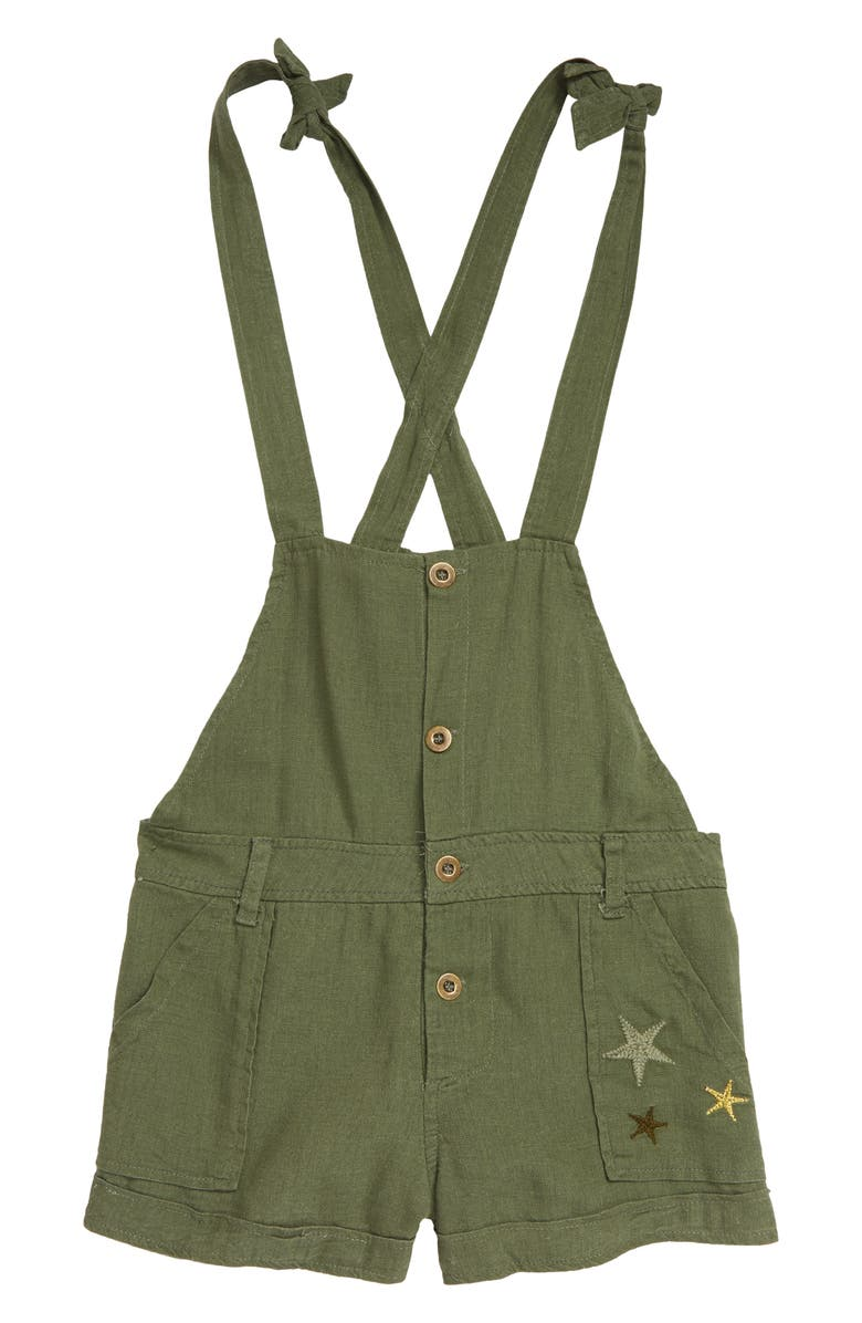 VINTAGE HAVANA Kids' Embroidered Star Overalls, Main, color, 300