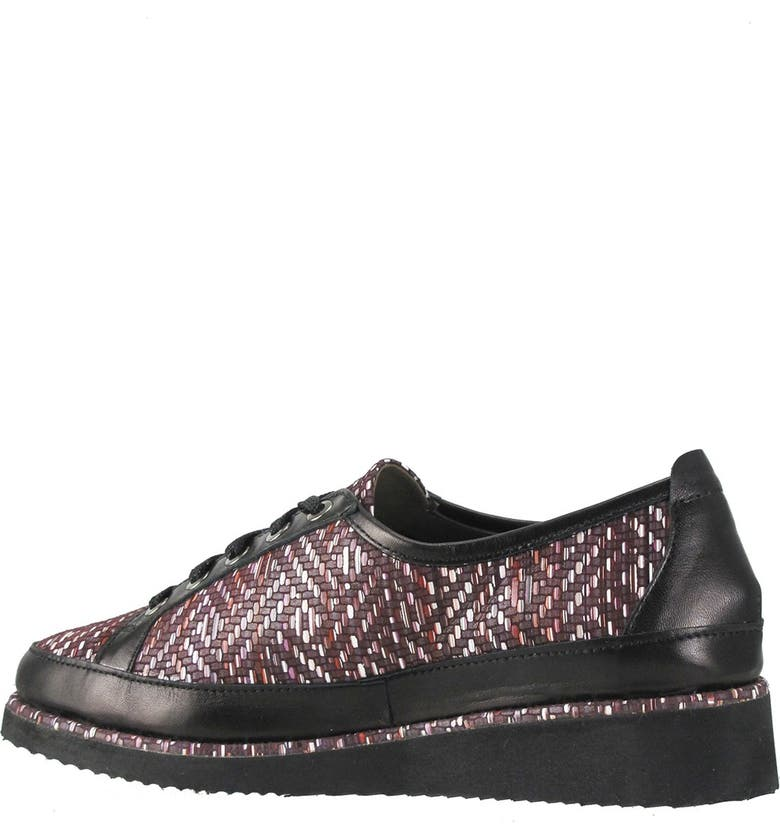 RON WHITE Novalee Mosaic Lace-Up Wedge Sneaker, Main, color, MULBERRY