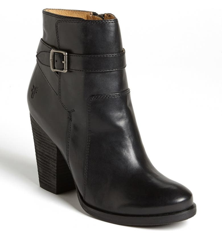 FRYE 'Patty' Leather Riding Bootie, Main, color, 001
