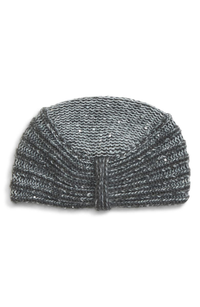 MAX MARA Simone Sequin Embellished Knit Hat, Main, color, 034