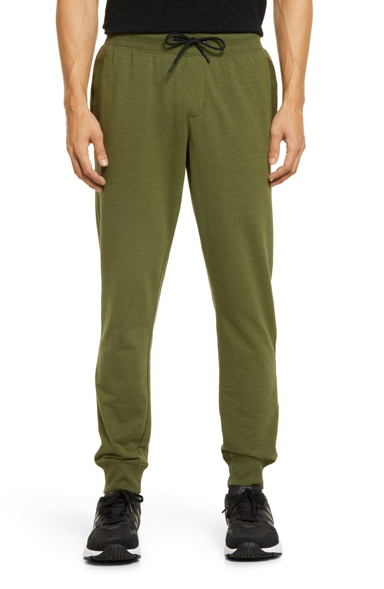 ZELLA Pocket Fleece Joggers, Main, color, GREEN CYPRESS MELANGE