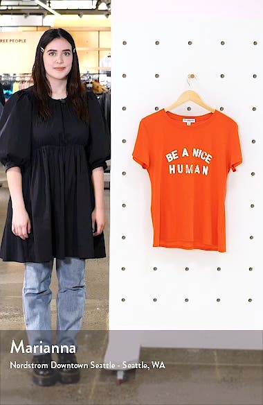 Be a Nice Human Graphic Tee, sales video thumbnail