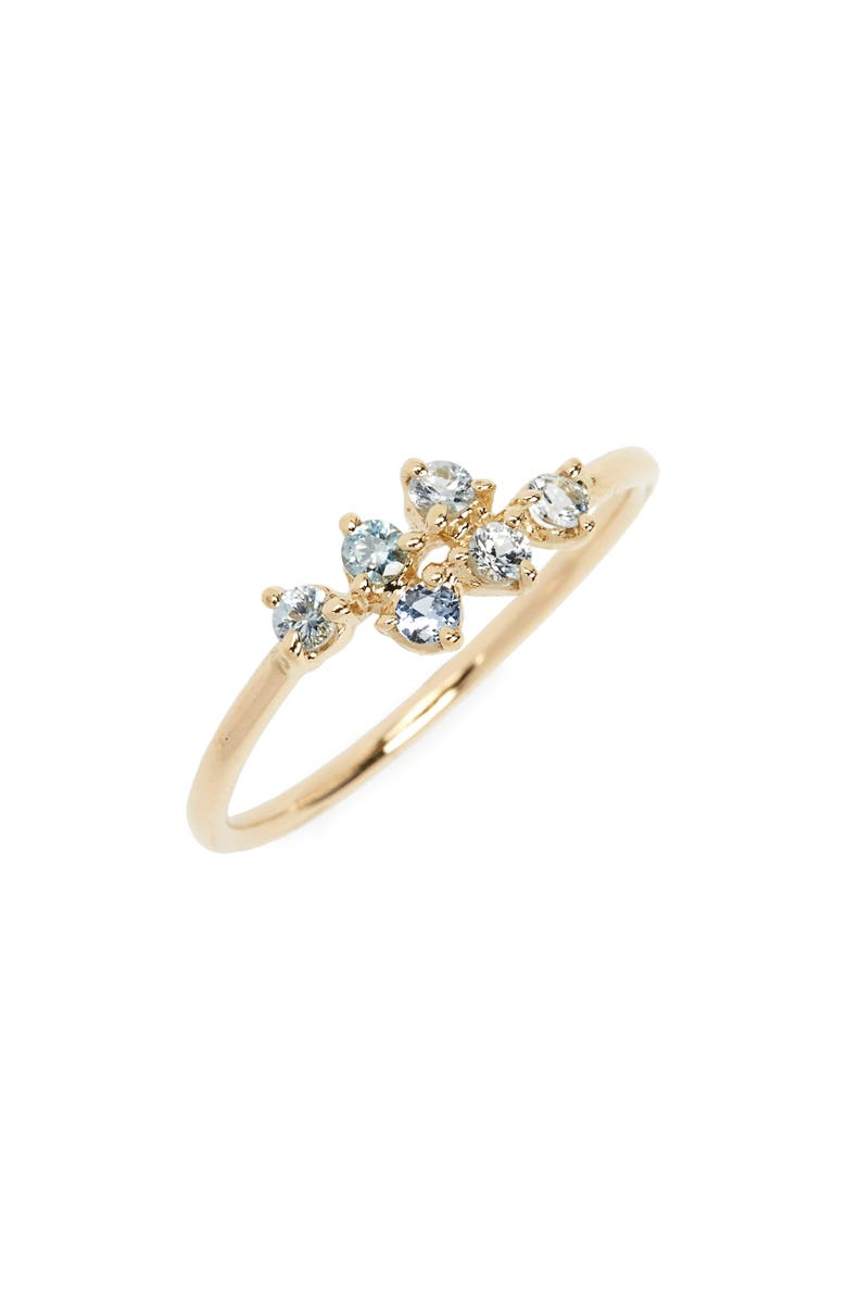 WWAKE Sapphire Mirrored Points Ring, Main, color, 710