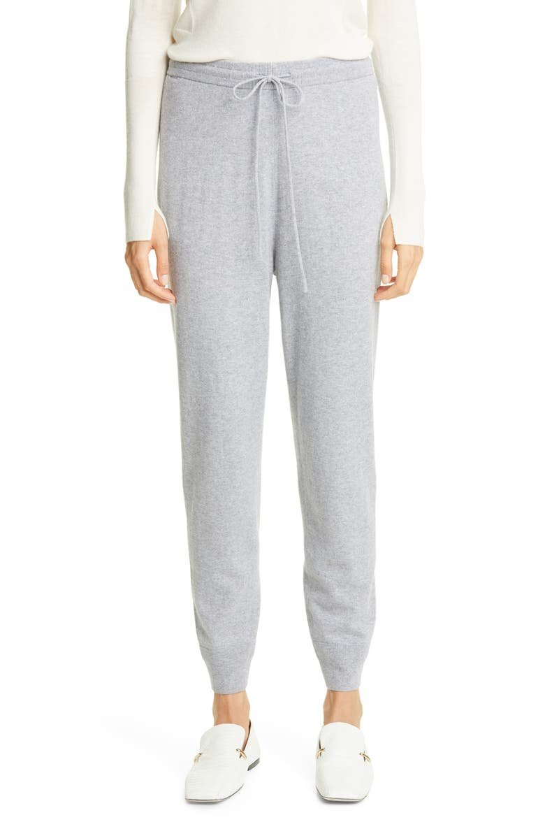 ST. JOHN COLLECTION Wool & Cashmere Knit Pants, Main, color, HEATHER GREY