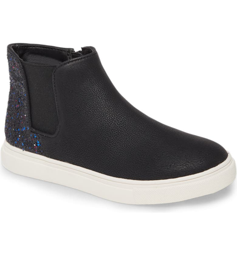 TREASURE & BOND Glitter Chelsea Sneaker, Main, color, 001