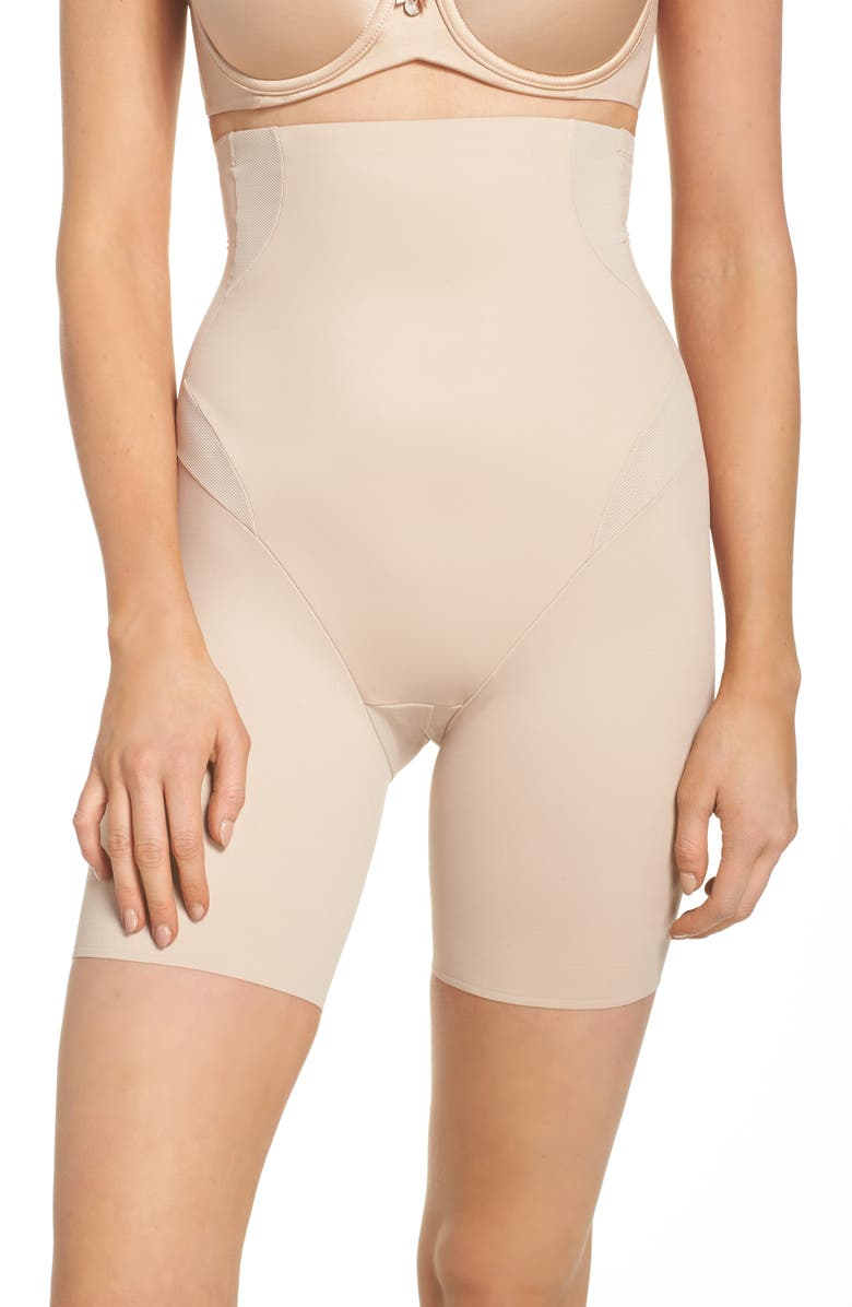 TC Cooling High Waist Thigh Slimmer, Main, color, NUDE
