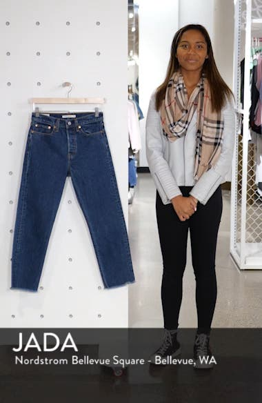 Wedgie High Waist Ankle Straight Leg Jeans, sales video thumbnail