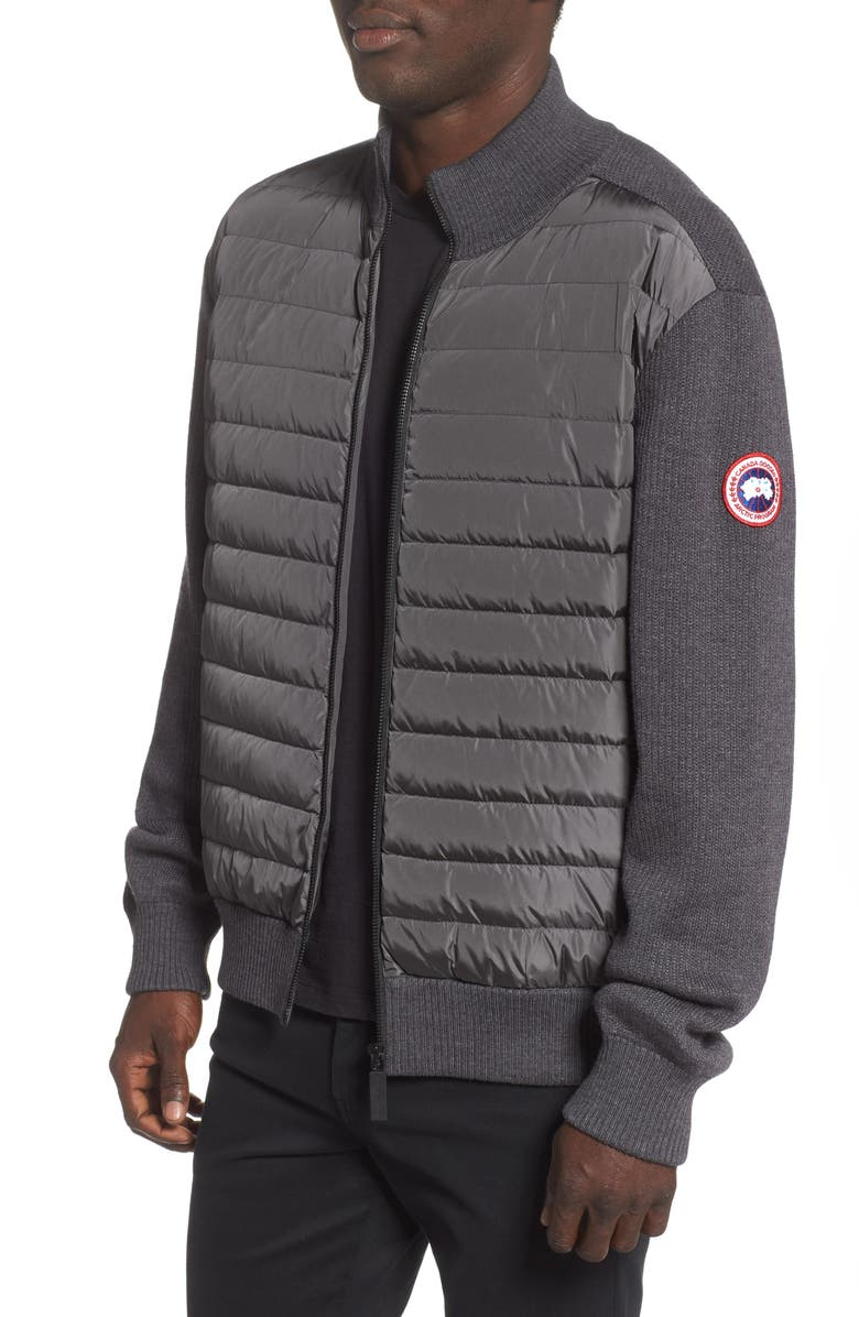 CANADA GOOSE Hybridge 675 Fill Power Down Jacket, Main, color, IRON GREY