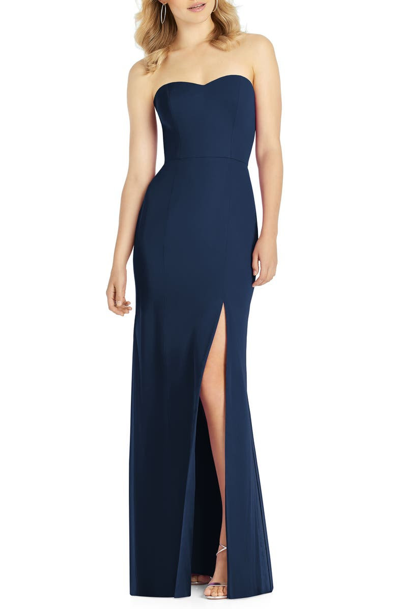 AFTER SIX Strapless Chiffon Trumpet Gown, Main, color, 410