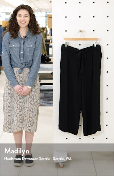 Belted Crop Wide Leg Pants, sales video thumbnail