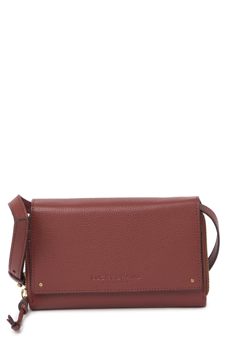 LUCKY BRAND Aila Convertible Wallet, Main, color, RED 03