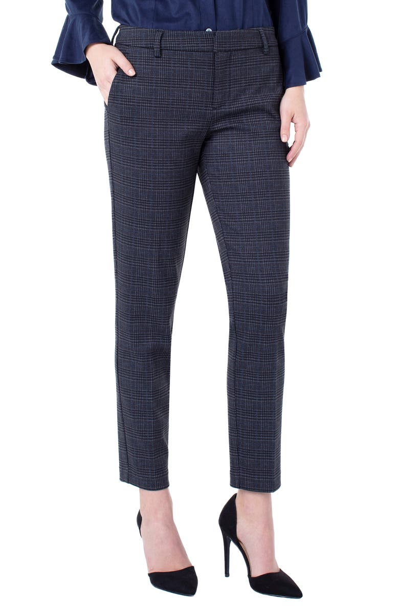 LIVERPOOL Kelsey Plaid Knit Trousers, Main, color, 006
