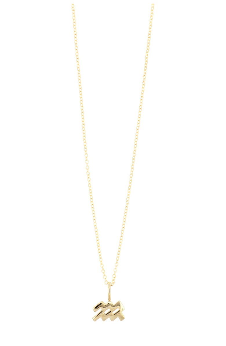 BONY LEVY 14K Gold Petite Horoscope Pendant Necklace - Multiple Signs Available, Main, color, 14KY