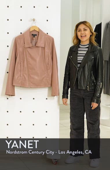 Quilted Faux Leather Moto Jacket, sales video thumbnail