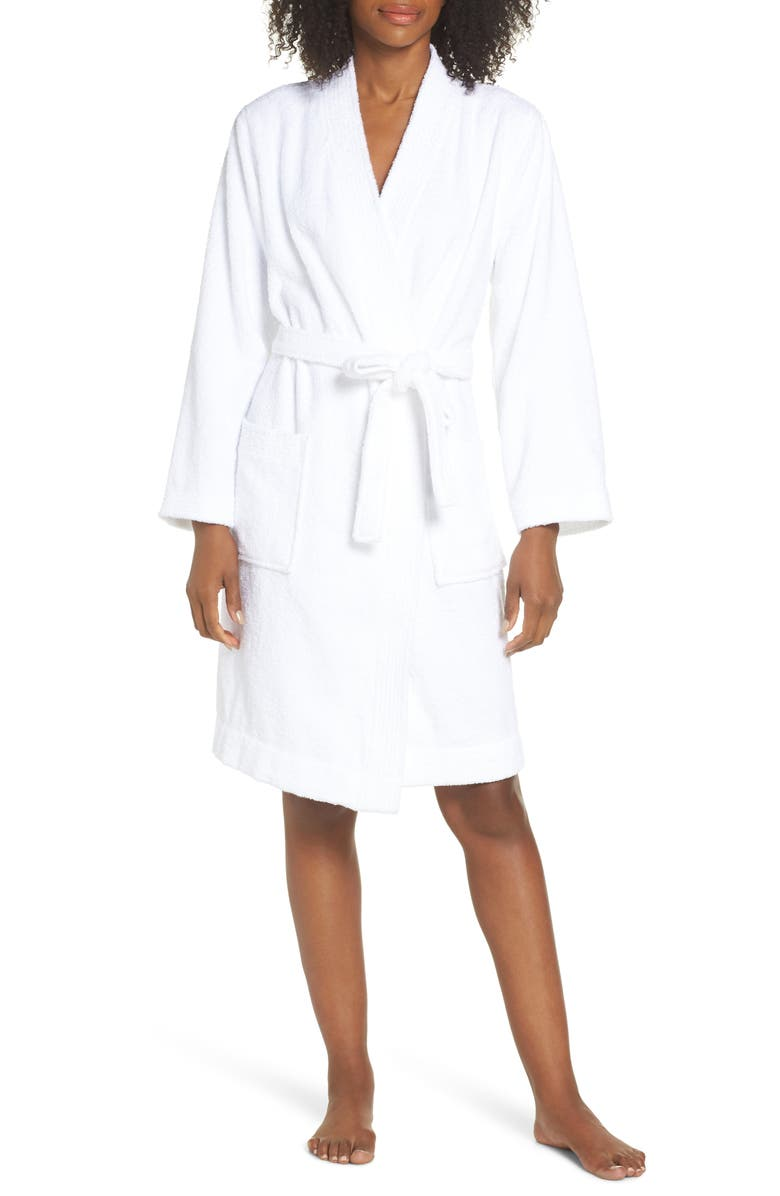 UGG<SUP>®</SUP> Lorie Terry Short Robe, Main, color, WHITE