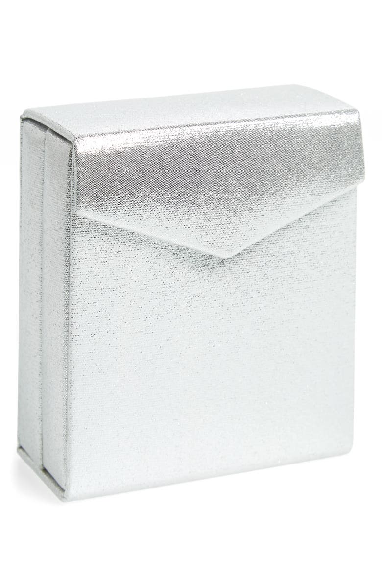 NORDSTROM Fold-Up Jewelry Travel Box, Main, color, SILVER
