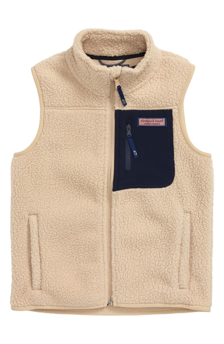 VINEYARD VINES Solid Fleece Vest, Main, color, 218