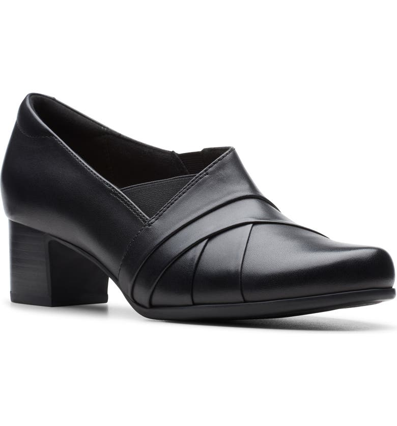 CLARKS<SUP>®</SUP> Un Damson Adele Pump, Main, color, BLACK LEATHER