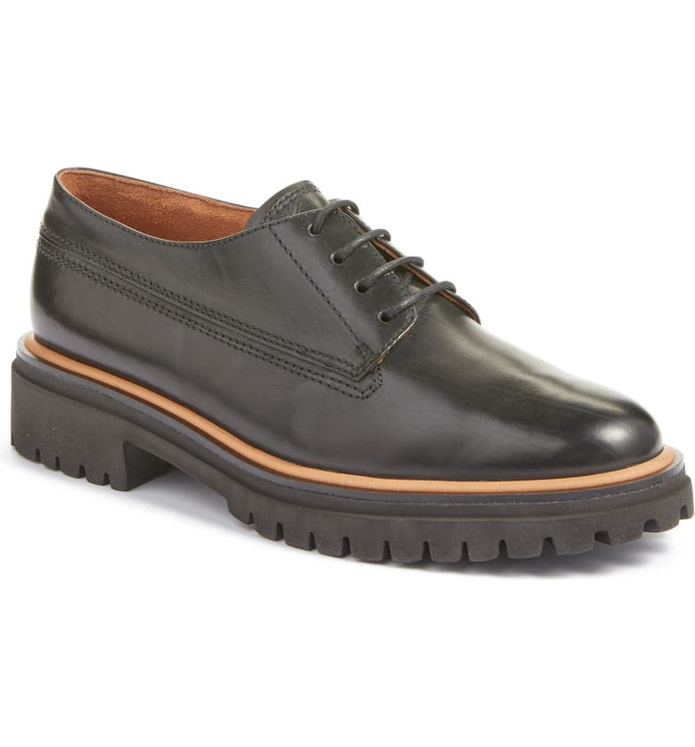PAUL GREEN Gina Oxford, Main, color, BLACK BRUSHED LEATHER