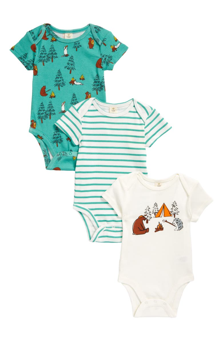 TUCKER + TATE Assorted 3-Pack Bodysuits, Main, color, CAMPING BUDDIES PACK