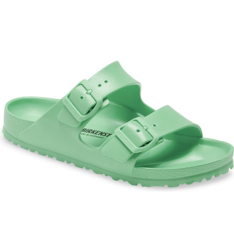 BIRKENSTOCK Essentials Arizona Waterproof Slide Sandal, Main, color, ACTIVE LIME RUBBER