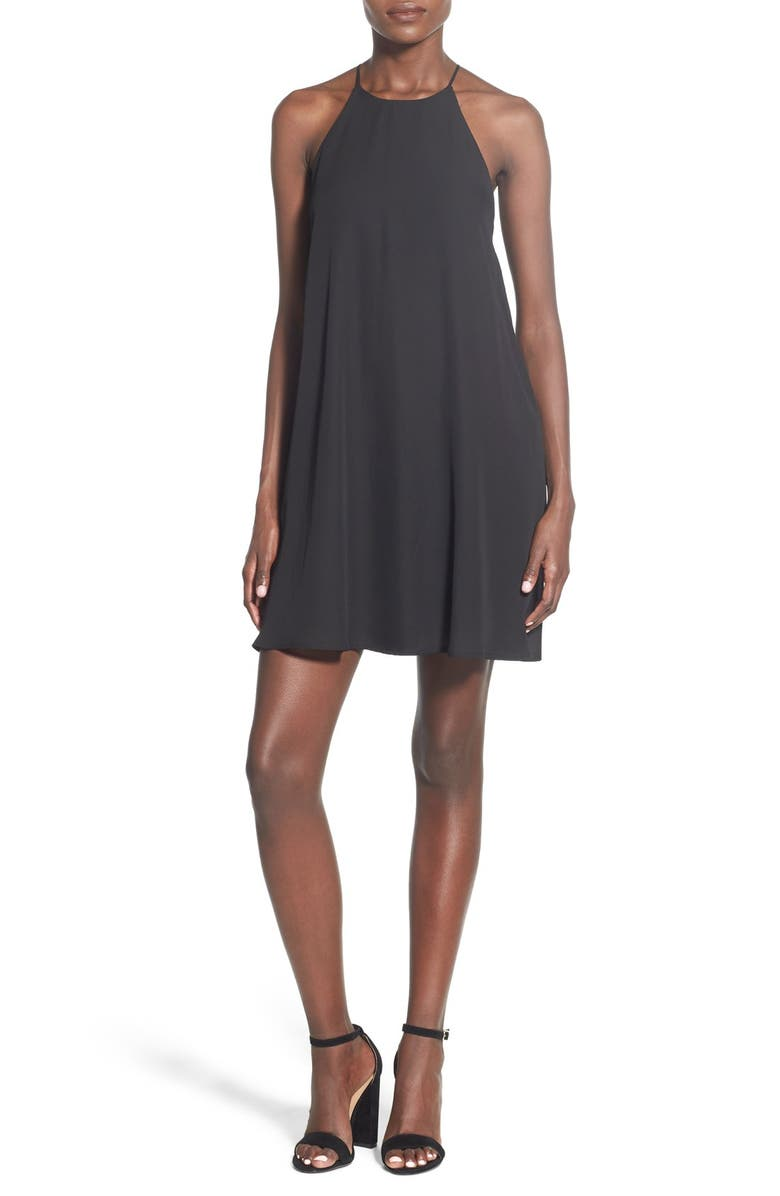 EVERLY High Neck Trapeze Dress, Main, color, 001