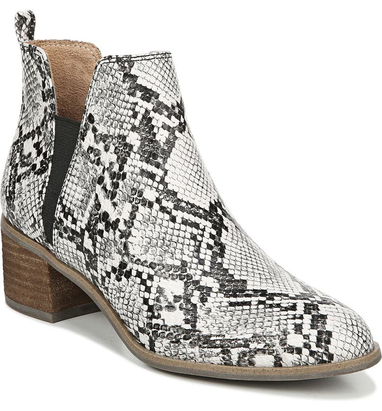 DR. SCHOLL'S Amara Bootie, Main, color, SNAKE PRINT LEATHER