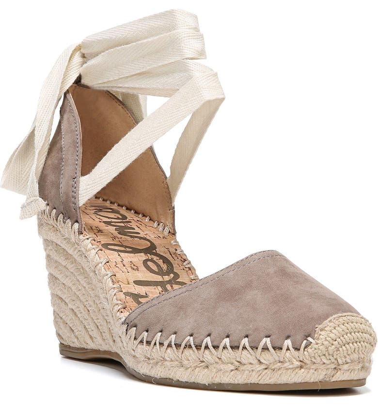SAM EDELMAN Patsy Wraparound Espadrille Wedge, Main, color, 020
