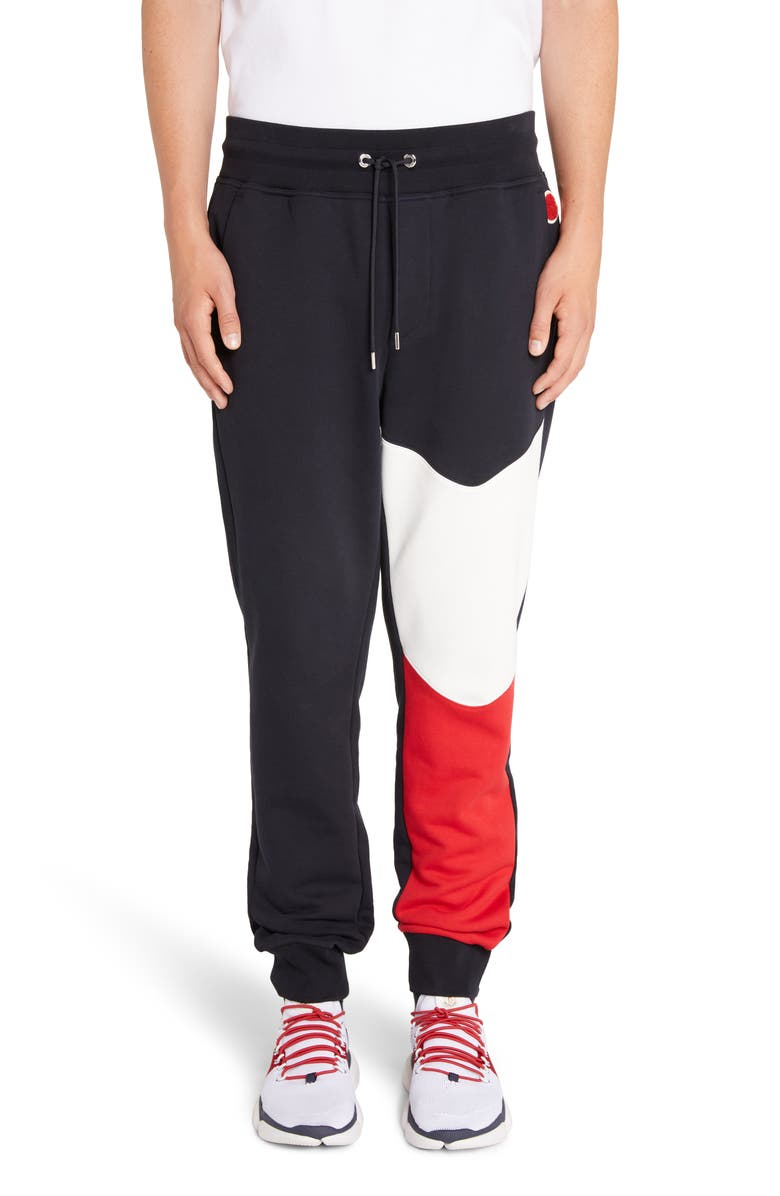 MONCLER Colorblock Sweatpants, Main, color, 401