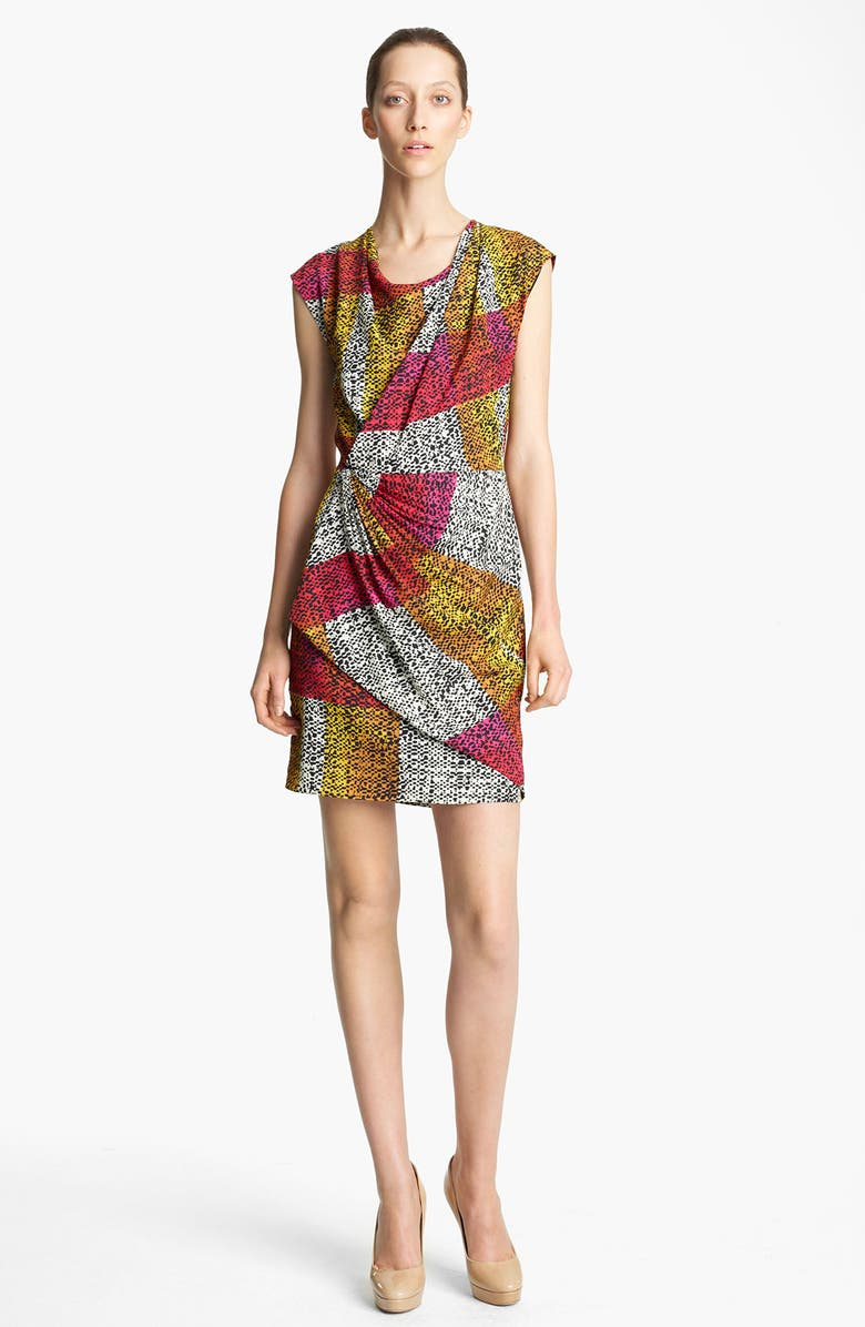 THAKOON Print Faux Wrap Dress, Main, color, 002