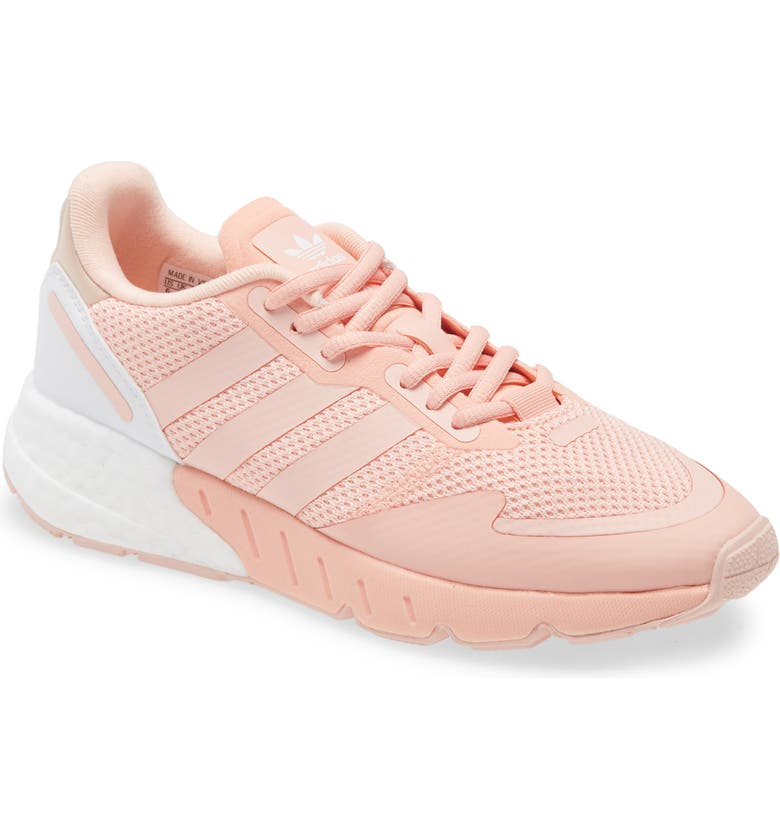 ADIDAS ZX 1K Boost Sneaker, Main, color, GLOW PINK/ VAPOR PINK/ WHITE
