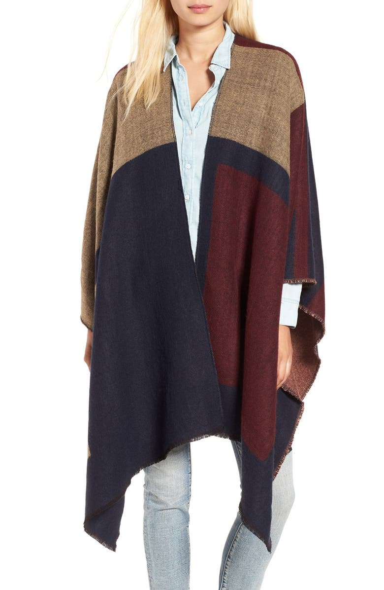 BP. Colorblock Poncho, Main, color, 410