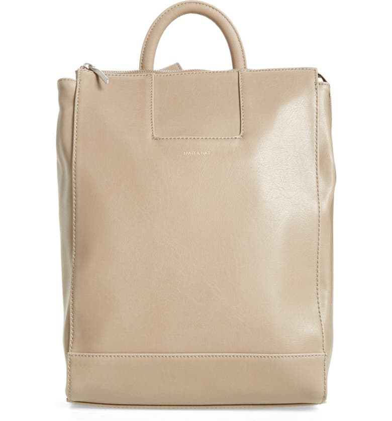 MATT & NAT 'Katherine' Faux Leather Backpack, Main, color, FEATHER