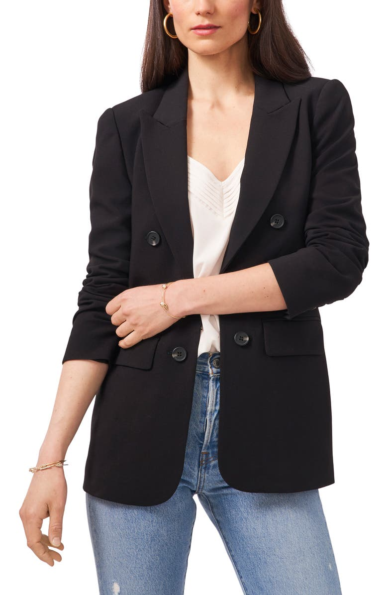 1.STATE Faux Double Breasted Blazer, Main, color, RICH BLACK