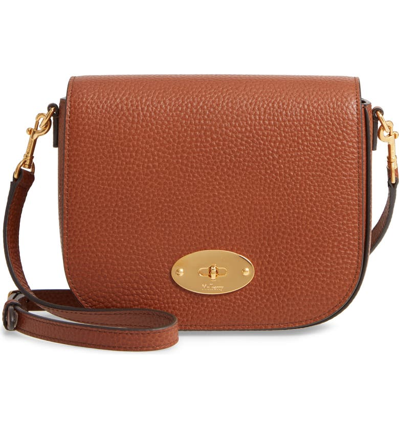 MULBERRY Small Darley Leather Crossbody Bag, Main, color, OAK