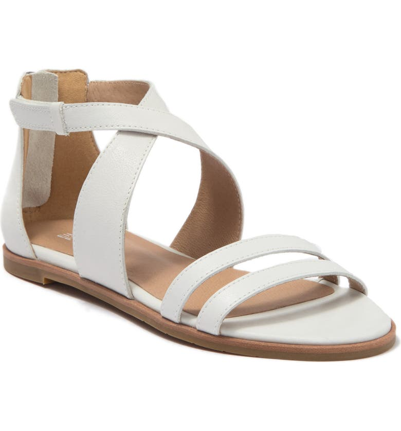 EILEEN FISHER Cici Sandal, Main, color, CHALK LEATHER
