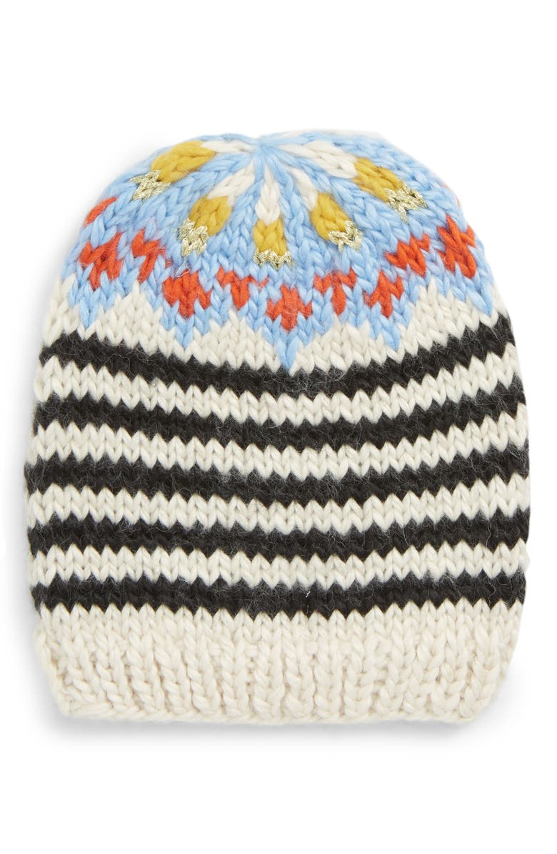 FREE PEOPLE Tullamore Stripe Knit Beanie, Main, color, 001