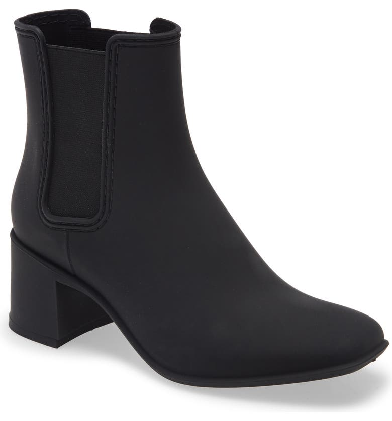JEFFREY CAMPBELL Rainy Day Waterproof Chelsea Rain Boot, Main, color, BLACK MATTE