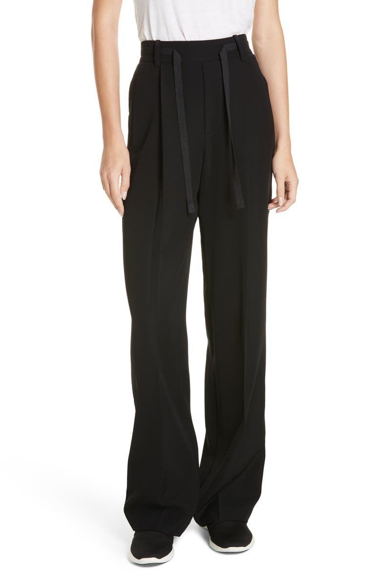 VINCE Wide Leg Pull-On Pants, Main, color, 001