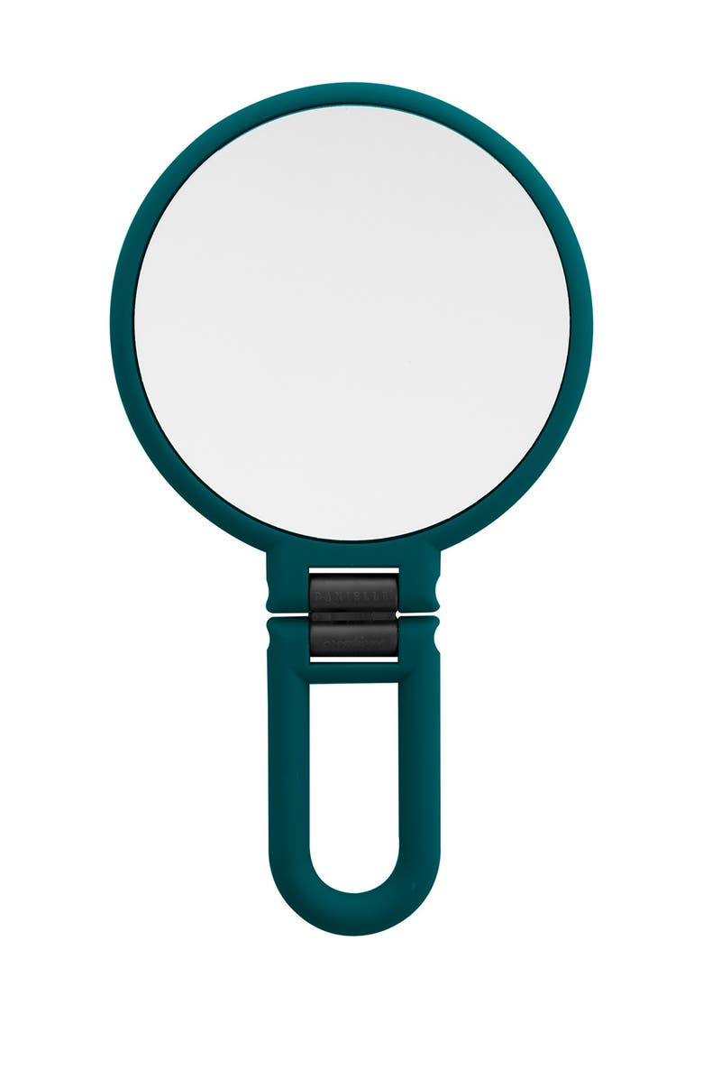 UPPER CANADA SOAPS Danielle Soft Touch Hand Held Foldable Mirror - Green, Main, color, NO COLOR