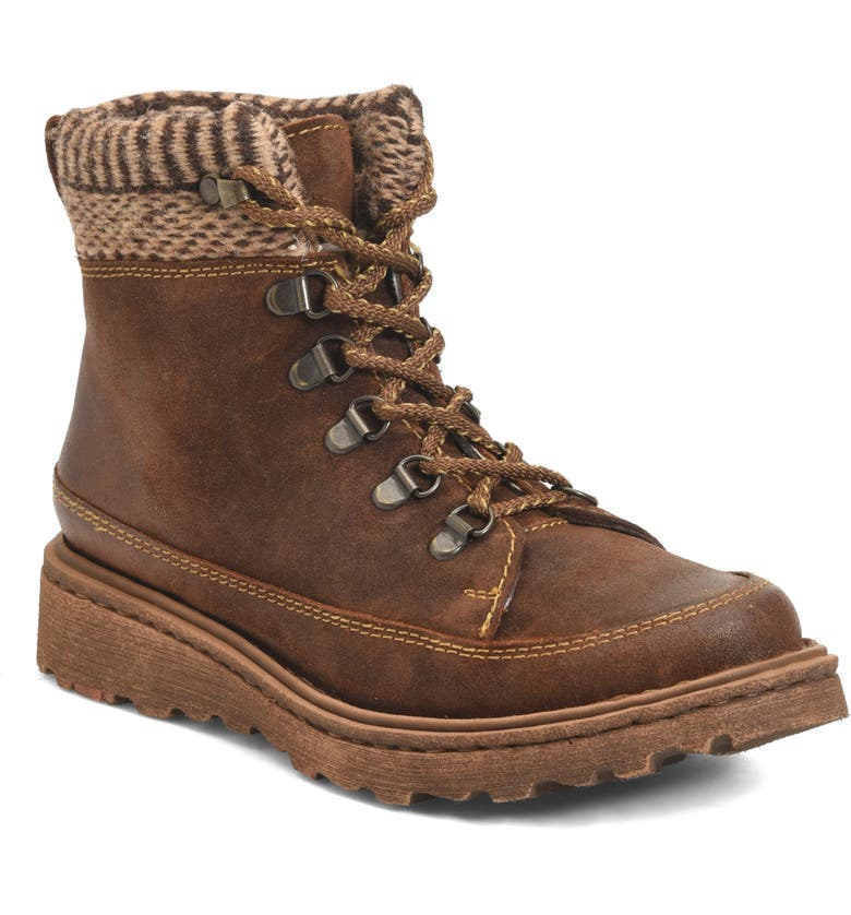 BØRN Orlene Boot, Main, color, BROWN FABRIC COMBO